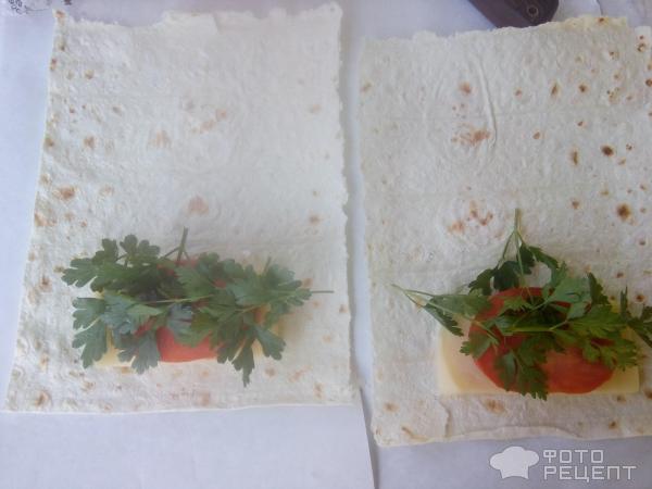 конвертики с сыром и зеленью фото