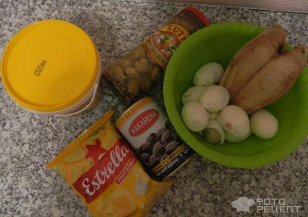 Рецепт салата подсолнух с курицей