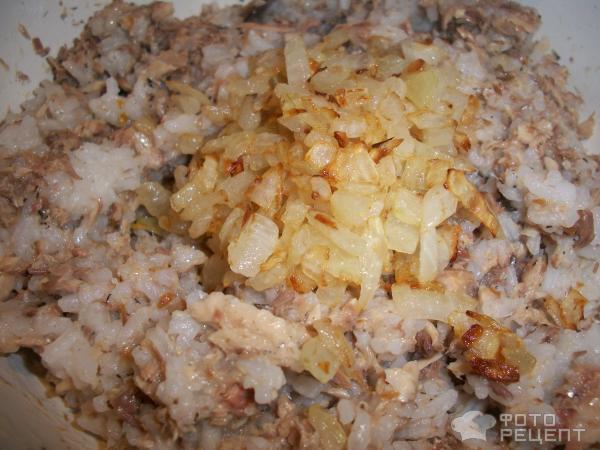 Рыбный пирог из слоеного теста фото