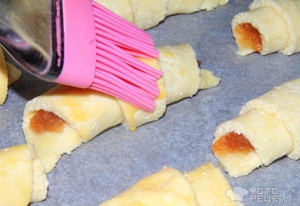 Рогалики творожные с повидлом рецепт пошагово в духовке