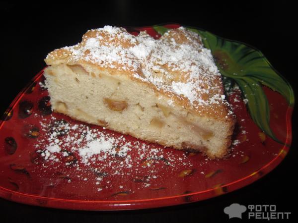 Бисквит с яблоками рецепт с фото пошагово