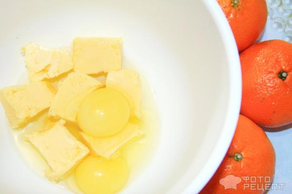 Пирог с мандаринами фото