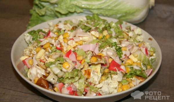 Салат из крабовых палочек без майонеза и риса с