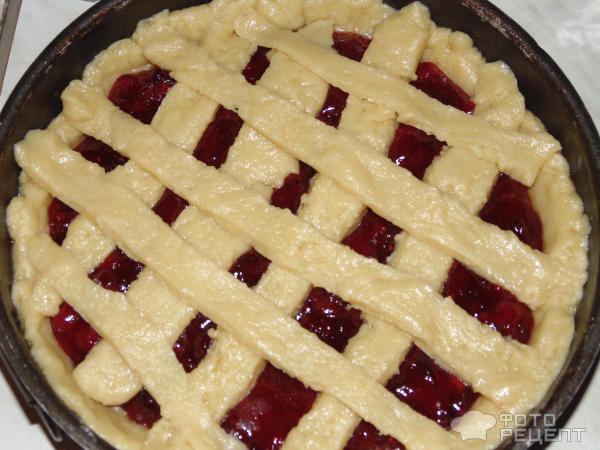 Открытый пирог из клюквы рецепт с