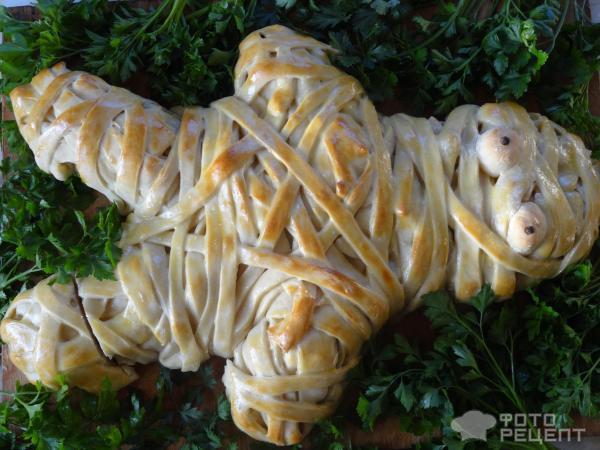 Пирог Мумия на Хеллоуин фото