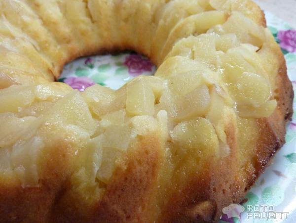 Творожный кекс с яблоками рецепт с фото