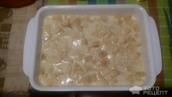 Шарлотка из кислых яблок рецепт с фото