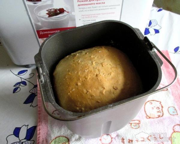 Хлеб в хлебопечке с овсяной мукойы