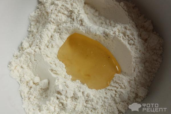 Лепешка с твердым сыром и творогом фото