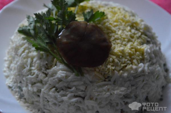 Салат грибная поляна с маслятами рецепт