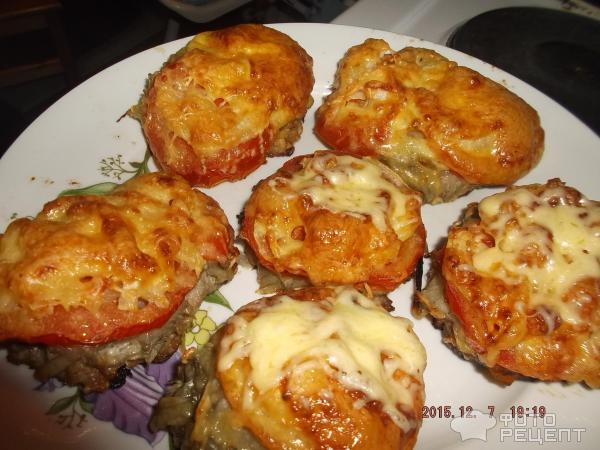 Рецепт стожки из фарша с грибами в духовке с фото