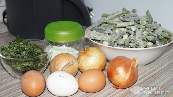 Стручковая фасоль с яйцами фото