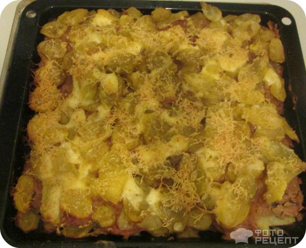 Фарш с картошкой в духовке рецепт с пошагово с