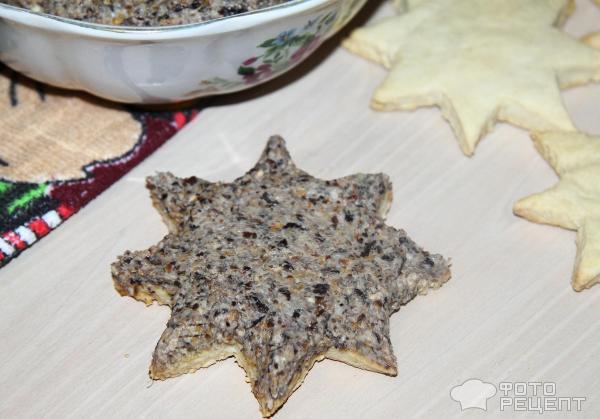 Новогодняя закуска Снежинки фото