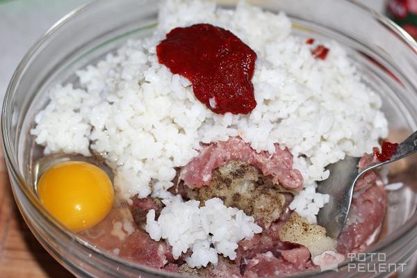 Тефтели из индейки с рисом в томатном соусе фото