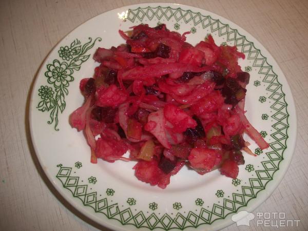 Винегрет рецепт без капусты пошаговый рецепт с