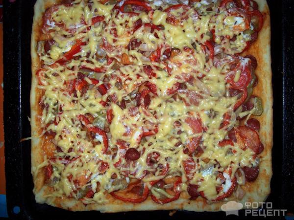 Пицца на дрожжах рецепт пошаговый рецепт с