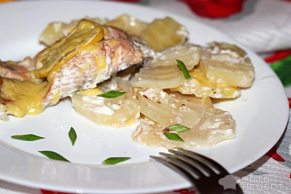 Кета в мультиварке с картошкой рецепты в