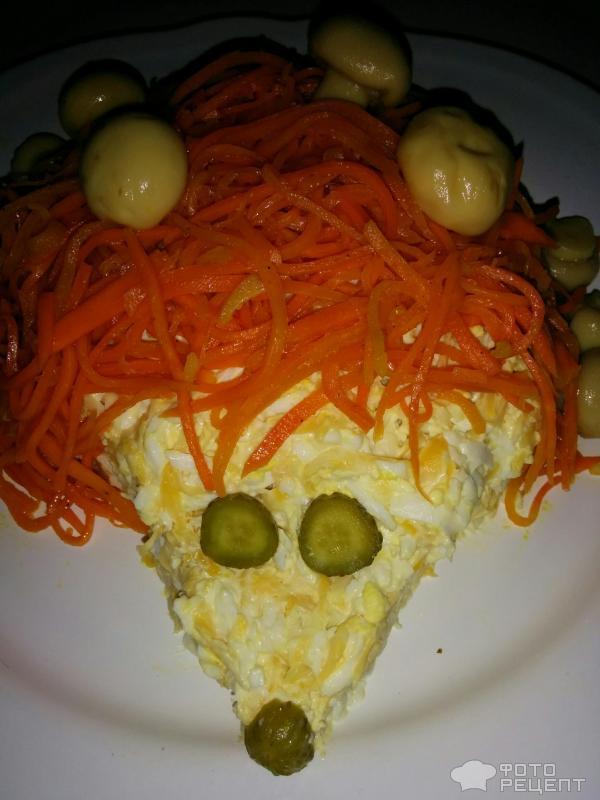 Рецепты салат поляна с корейской морковкой