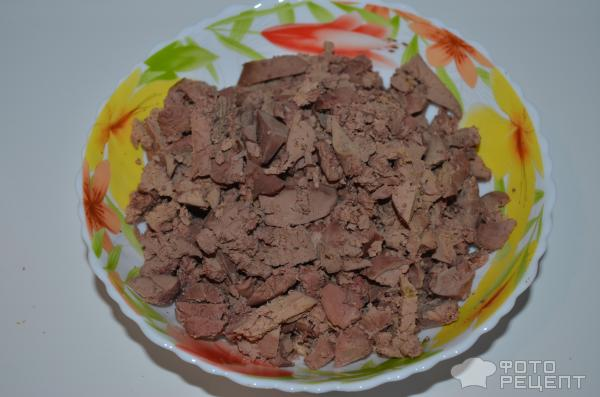 Салат слоёный печёнкин рецепт с