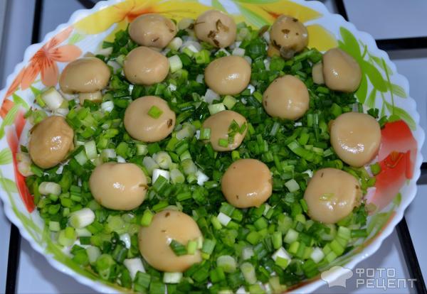 салаты с шампиньонамифото рецепты