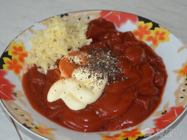 подлива для тефтелей с томатной пастой и майонезом