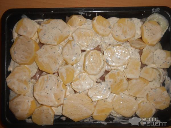 Курица филе с картошкой в духовке рецепты с пошагово
