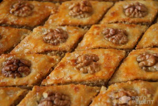 Рецепт пахлавы медовой с орехами