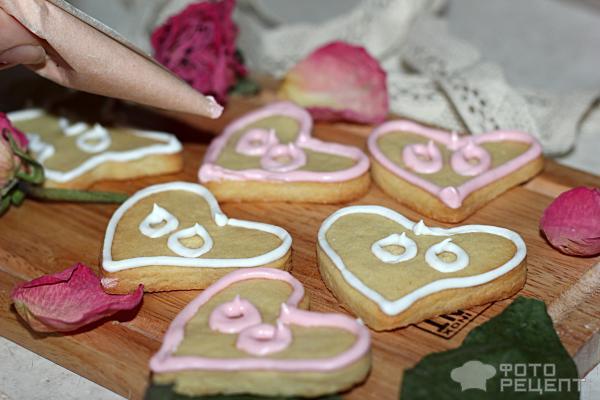 Печенье ко дню Св. Валентина фото