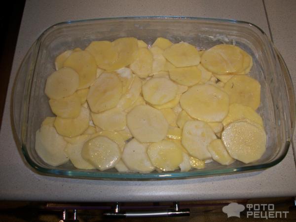 Горбуша с картофелем в сметане фото
