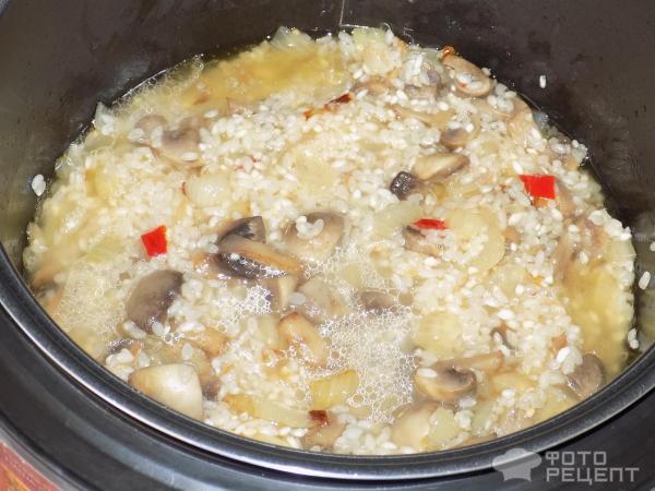 Ризотто с грибами рецепт в мультиварке с пошаговый
