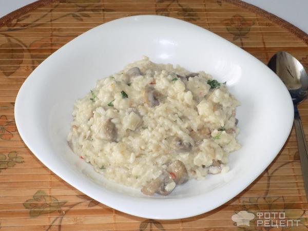 Ризотто с грибами в мультиварке рецепт с пошаговый рецепт