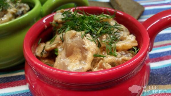 Куриное фрикасе в сливочном соусе рецепт