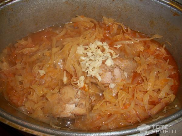 капуста тушеная с курицей и картошкой пошаговый рецепт