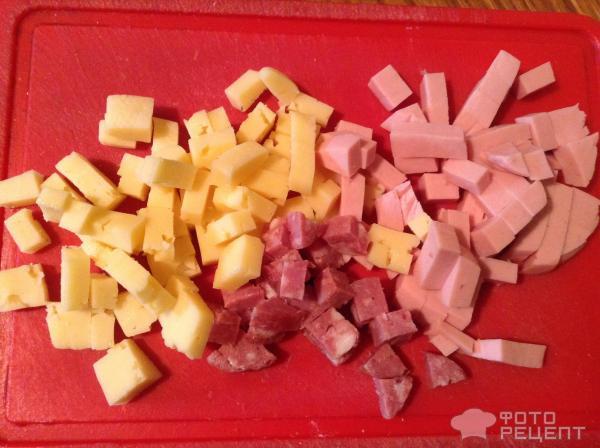 Кексы с сыром и колбасой фото
