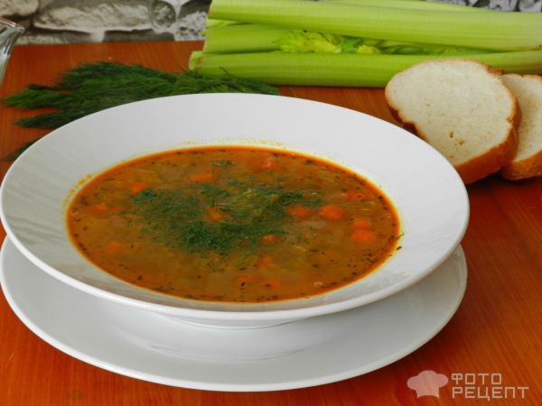 Чечевичный суп с сельдереем рецепт