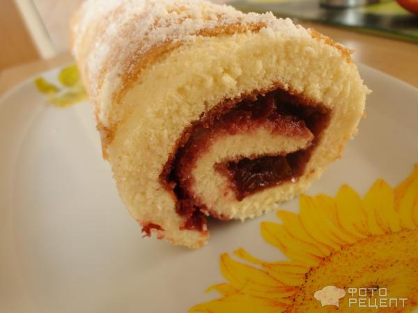 Рулет из бисквитного теста рецепт начинки 33