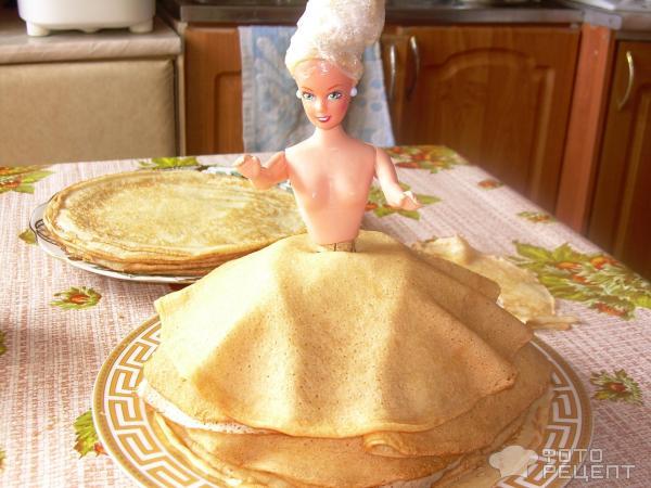 Кукла в блинах фото
