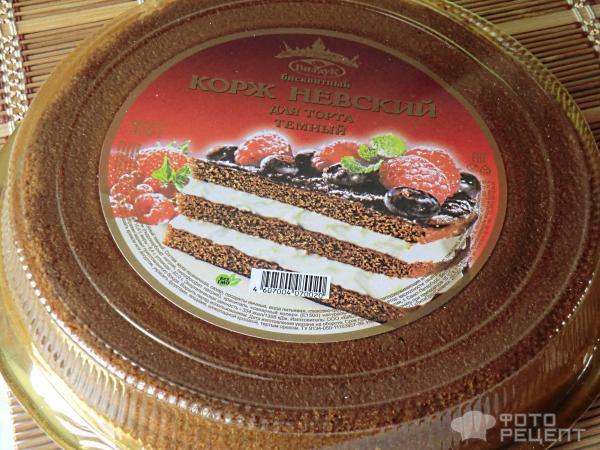 торт из покупного бисквита рецепт