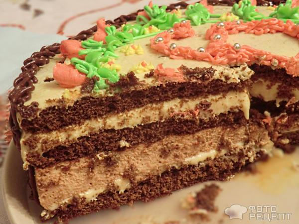 Торт из магазинных коржей рецепт