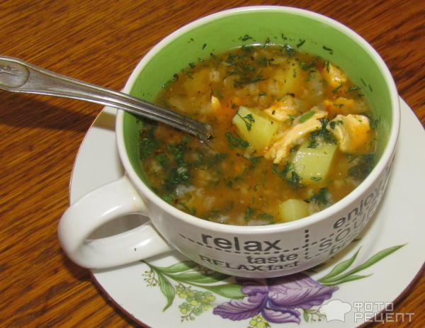 Суп харчо из курицы с рисом фото