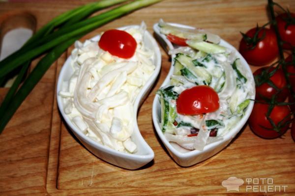 Салат из кальмаров замороженных рецепт с