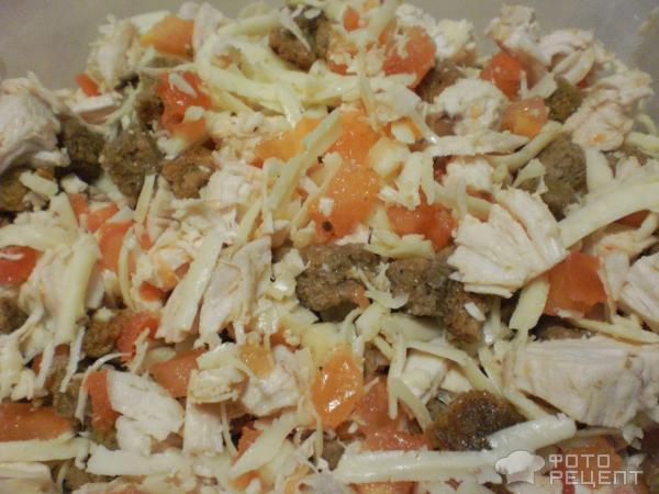 Салат с сыром солеными огурцами рецепт с
