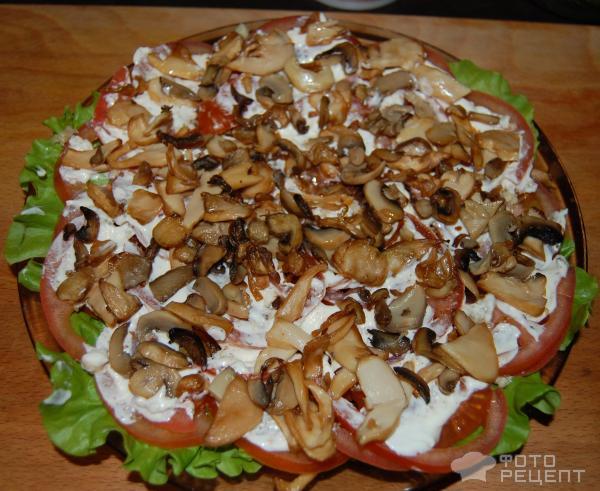Фото рецепты салат из шампиньонов