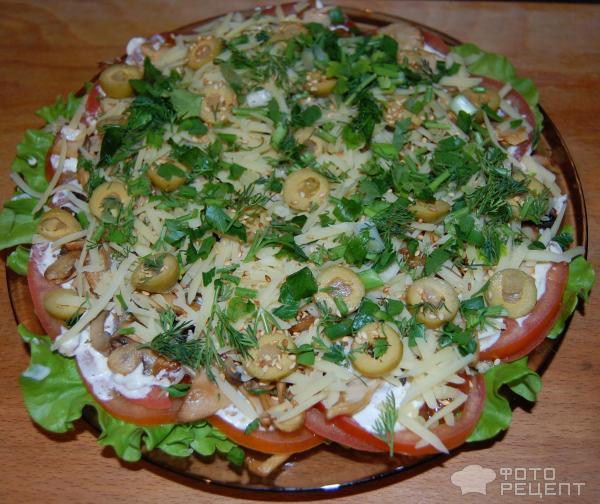 Необычные слоеные салаты с фото