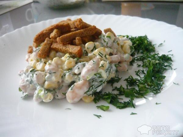 Салат с белыми сухариками рецепт очень вкусный