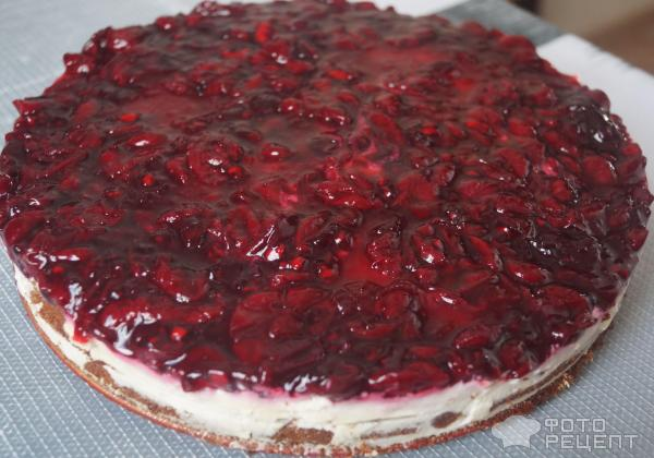 Торт с вишней на кипятке