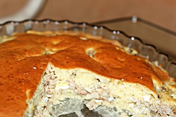 Как сделать пирог из сайры с рисом