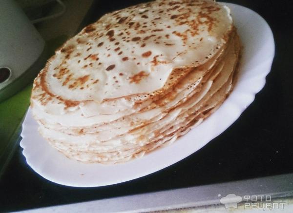 Блинчики на кефире тонкие с творогом рецепт