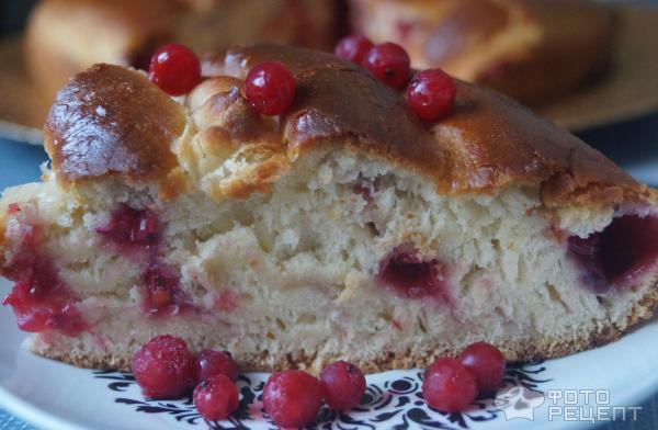 Пирог дрожжевой смородиной рецепт фото